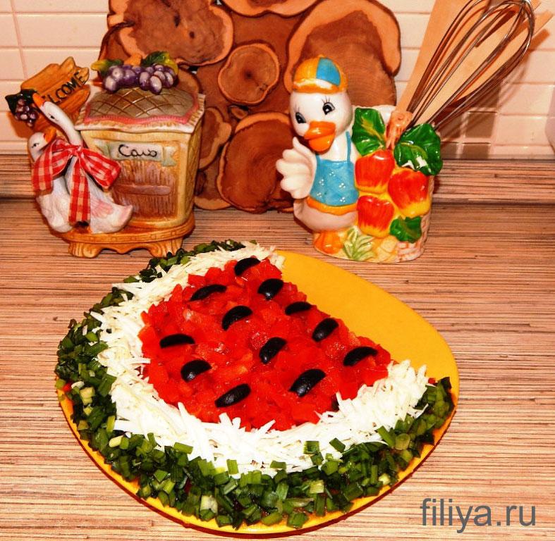 оформления салатов к праздничному столу фото