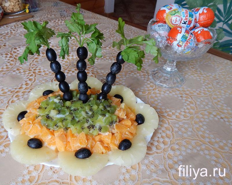 оформления салатов к праздничному столу