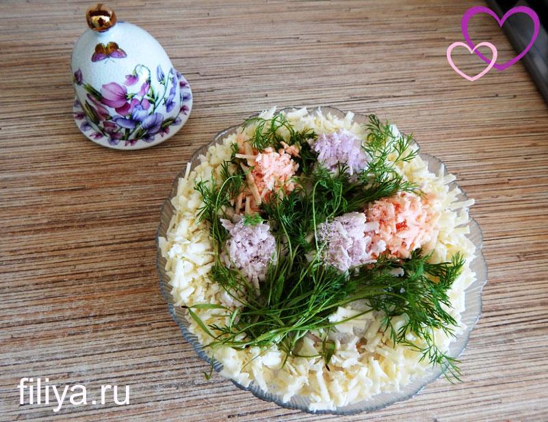 украшение салатов идеи фото
