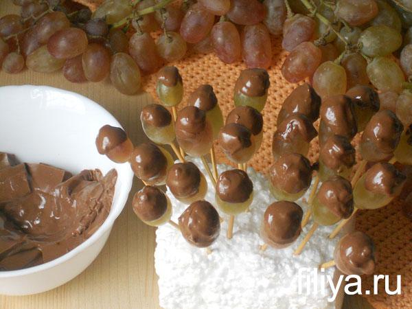 Виноград в шоколаде фото